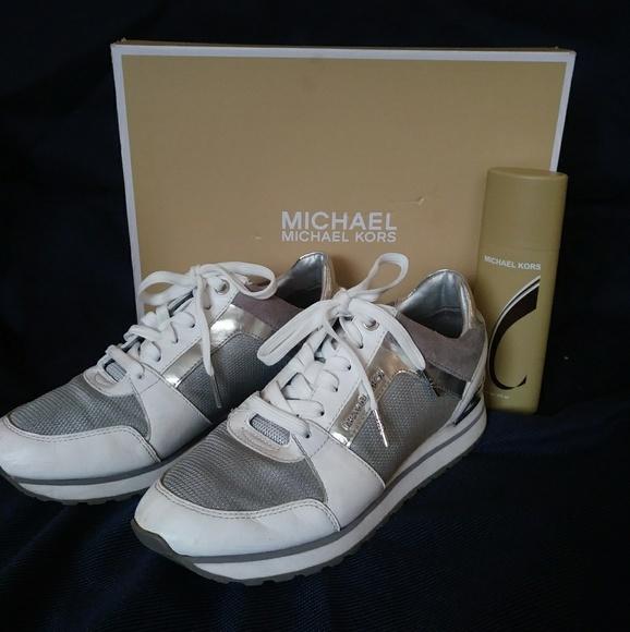 4f2eb59e0587 Michael Kors Billie Mesh And Leather Sneaker. M 5a67871ed39ca231e6dc8d22
